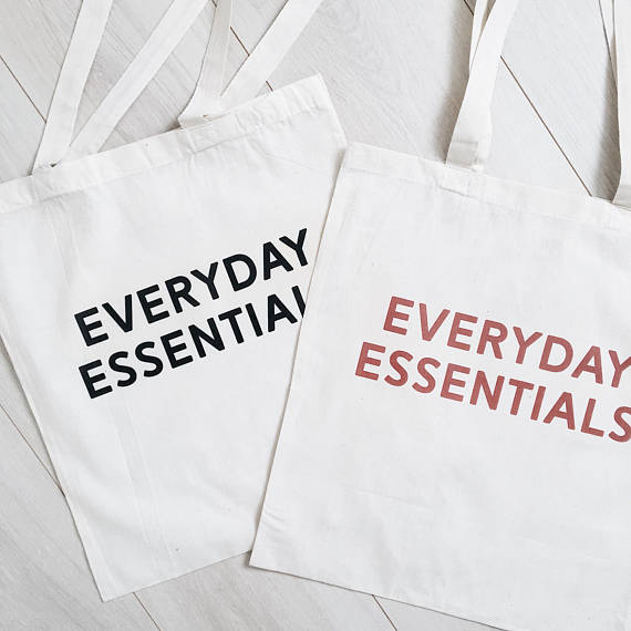Tote bag - Everyday essentials noir