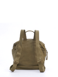 Bohemian Hipster Small Olive Green Leather Backpack