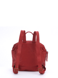 Women's Small Red Leather Travel Rucksack