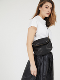 Classic Black Leather Crossbody Bag