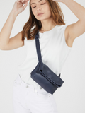 Dark Blue Crossbody Pouch Bag