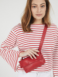Vibrant Red Leather Fanny Pack Street Style
