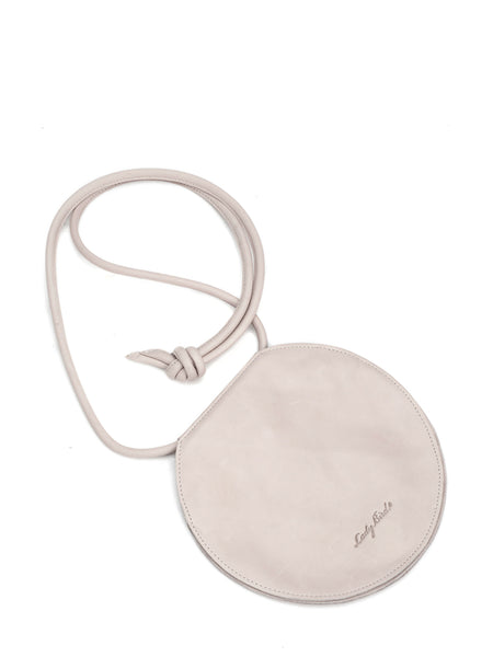 Beige Leather Circle Bag