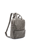 "Unisex Grey Leather 13"" Laptop Backpack"