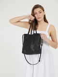 Stylish Black Tote Purse