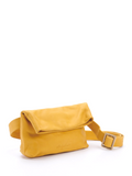 Bohemian Bright Yellow Leather Waist Bag