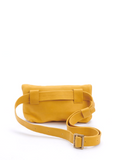 Summer Yellow Leather Crossbody Hip Bag