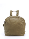 Urban Small Olive Green Leather Everyday Backpack