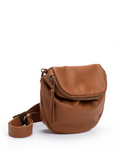 Classic Brown Leather Bohemian Crossbody Purse
