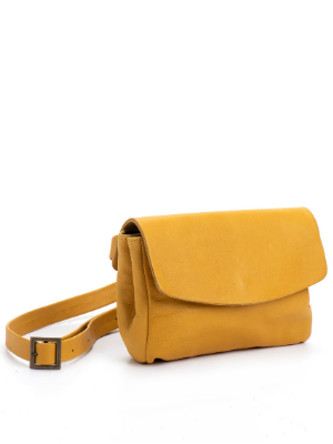 Bohemian Yellow Leather Purse