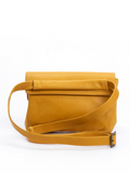 Yellow Bag Back Details Buckle Strap