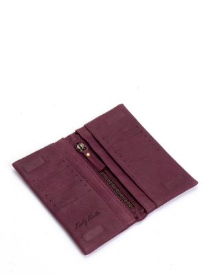 Burgundy Leather Bifold Wallet