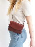 Small Deep Burgundy Red Leather Bag