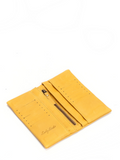 Bohemian Yellow Leather Bifold Wallet