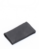 Black Leather Bifold Wallet Small Large