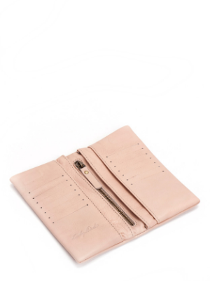 Womens Nude Leather Bifold Wallet Small Large