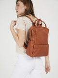 Unisex Rich Cognac Leather Rucksack