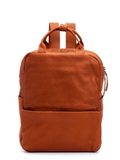 Unisex Cognac Brown Soft Leather 13 Inch Laptop Backpack