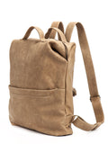 Handmade Camel Brown Leather Backpack