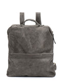 "Unisex Large Grey Leather 15"" Laptop Backpack"