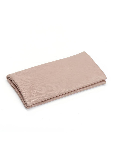 Pretty Nude Snake Leather Bifold Wallet