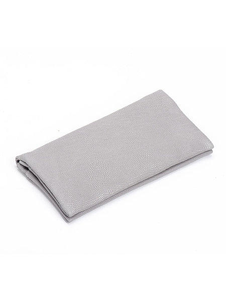 Light Grey Snake Leather Slim Wallet