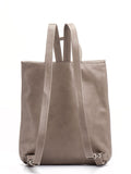Taupe Leather Flap Backpack
