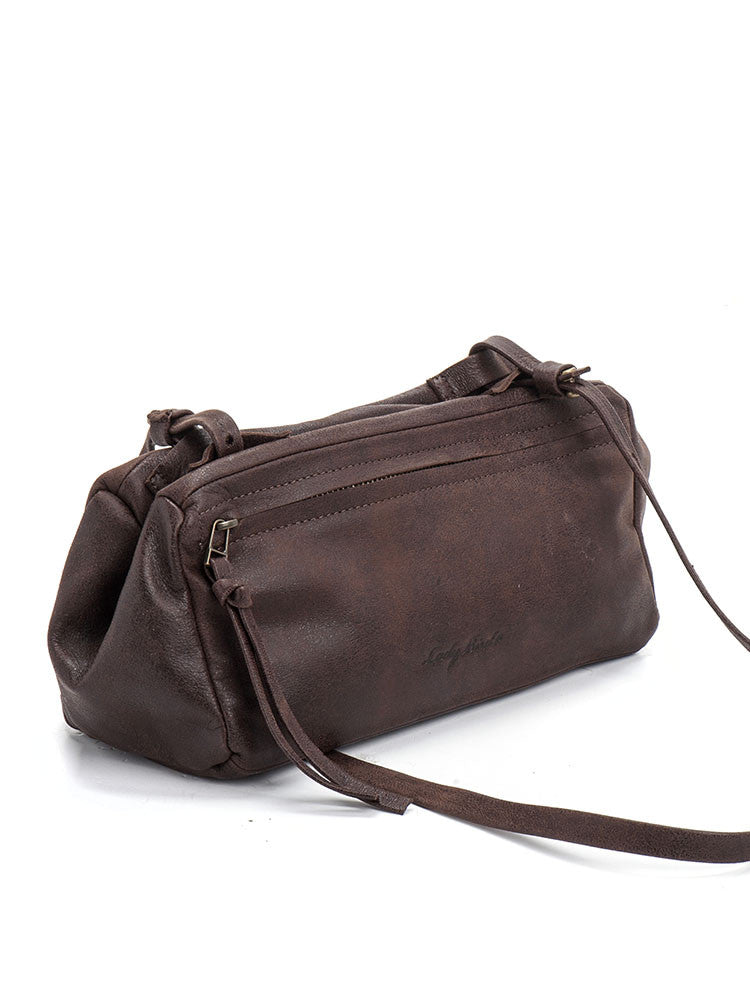 Bohemian Handmade Brown Leather Crossbody