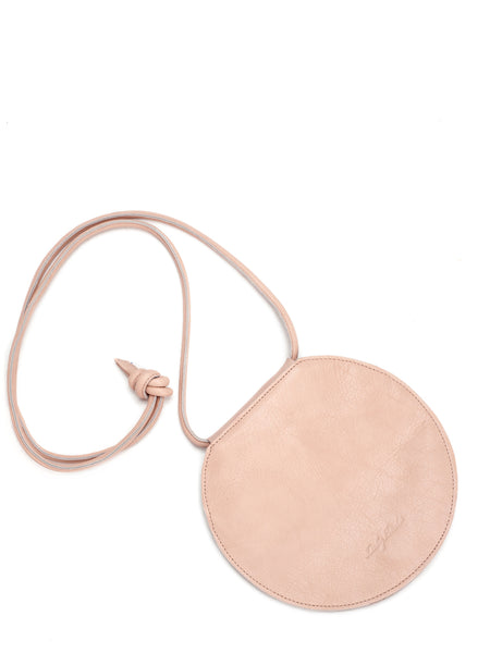 Nude Leather Circle Bag