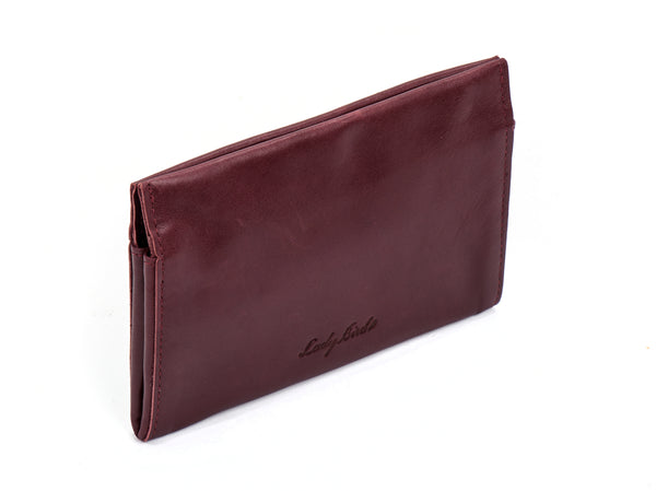 Bordeaux women leather wallet made from supple leather -  Joey
