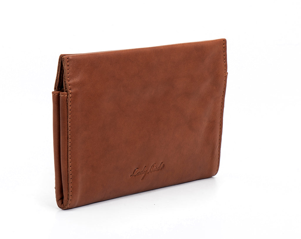 Brown woman leather wallet -  Joey