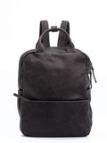 Ash Grey Leather Backpack