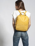 Yellow Leather Laptop Backpack