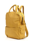 Handmade Yellow Leather Laptop Backpack