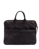 "Ash Grey Leather 13"" Laptop Briefcase"