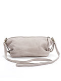 Beige Leather Slouchy Crossbody Bag