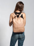 Nude Leather Laptop Backpack