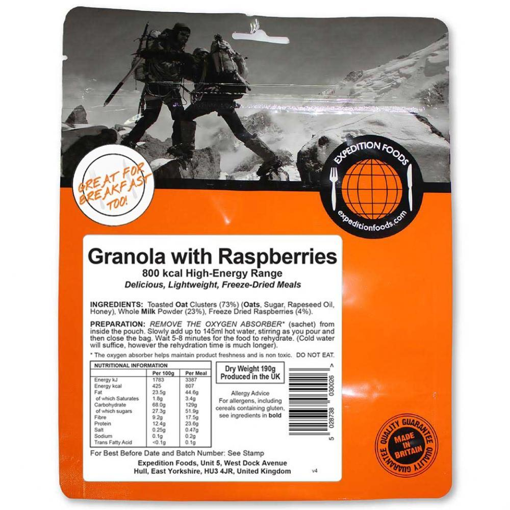 Expedition Foods Granola with Raspberries (800kcal), food pack