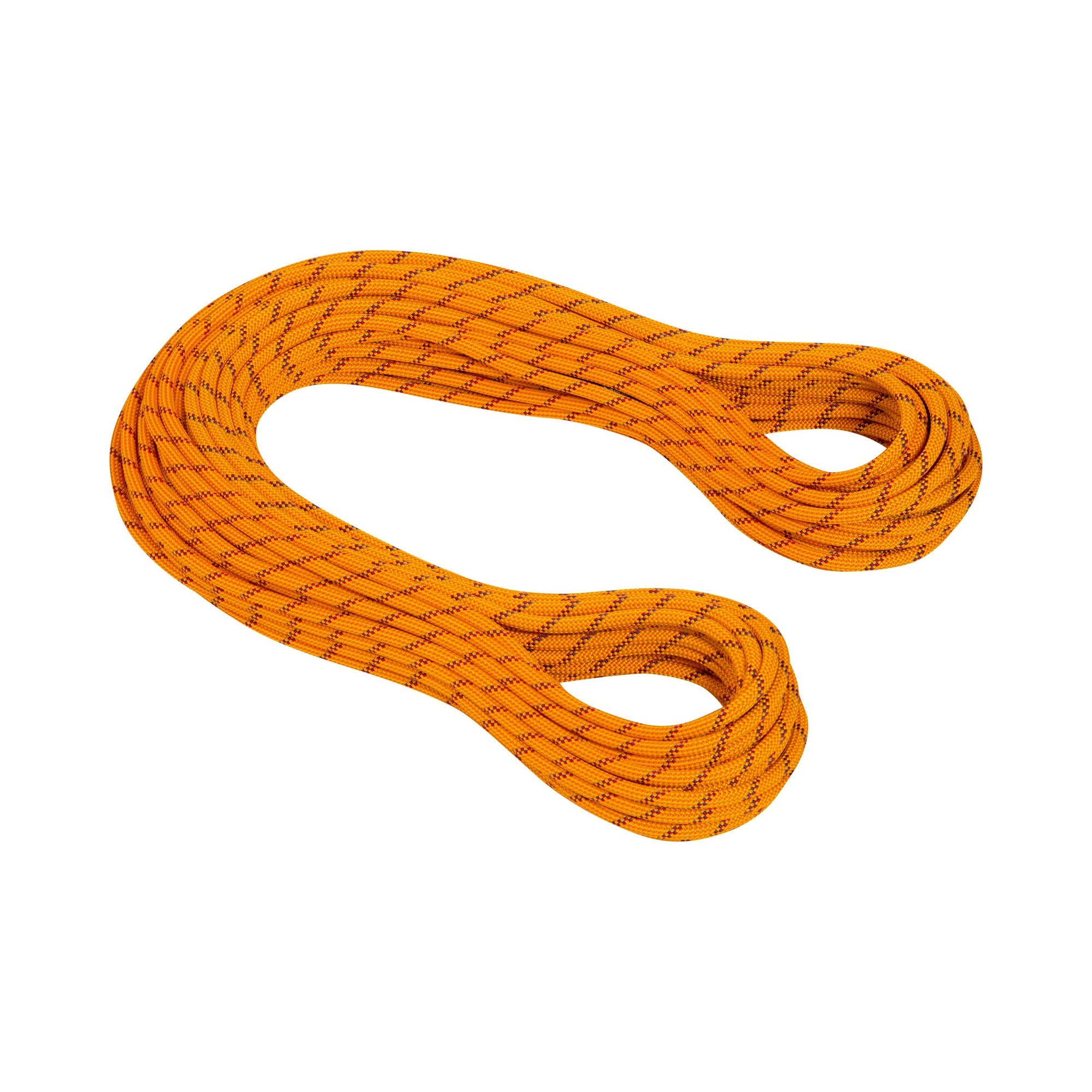 2 Mammut Genesis Dry 8.5mm x 50m climbing ropes, in orange and red colour