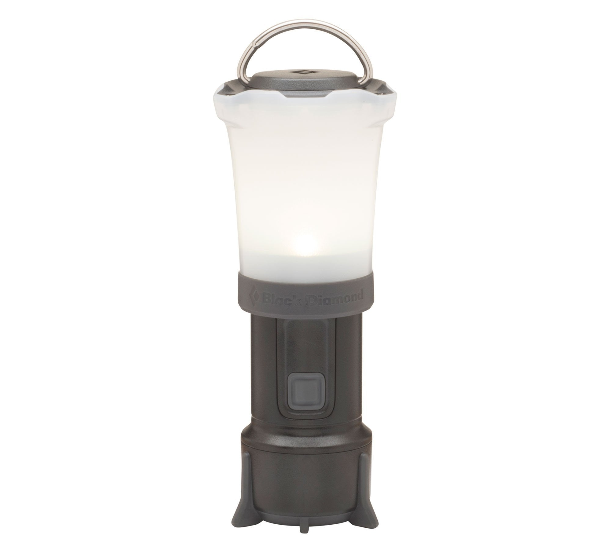 Black Diamond Orbit camping Lantern, in graphite/white colour shown stood up