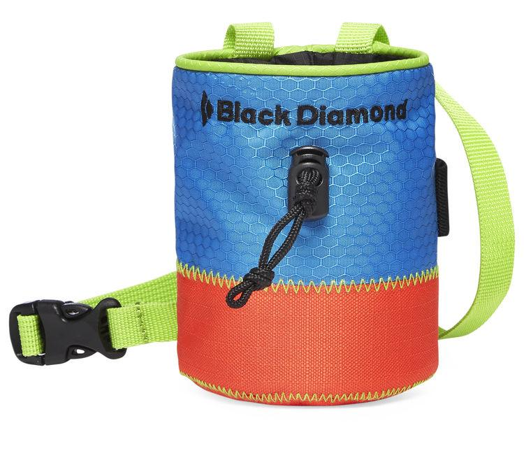 Black Diamond Mojo Kids Chalk Bag, front view with belt