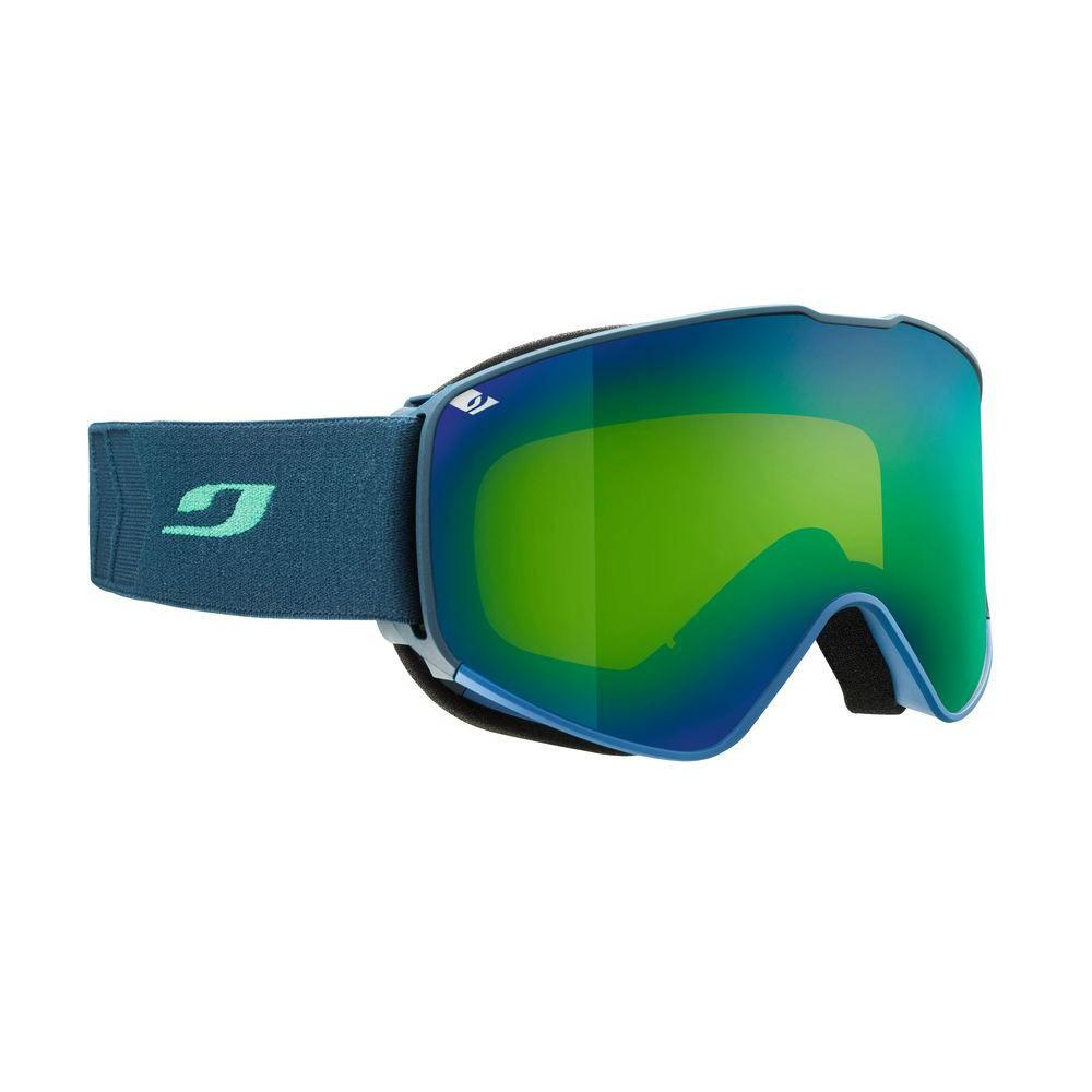 Julbo Alpha Spectron Cat 3 Goggles, front/side view in green/blue colours