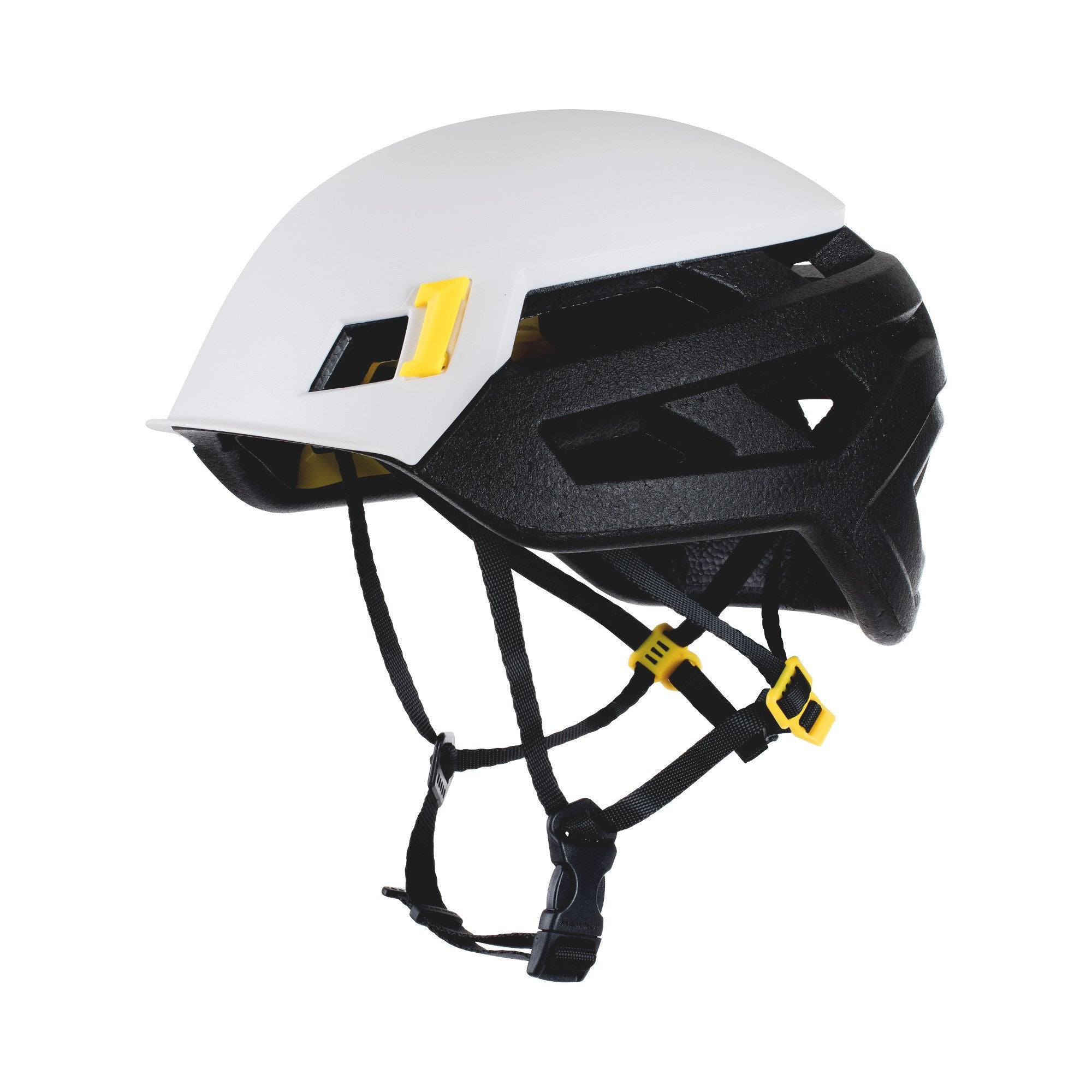 Mammut Wall Rider MIPS climbing helmet, in white and black colours