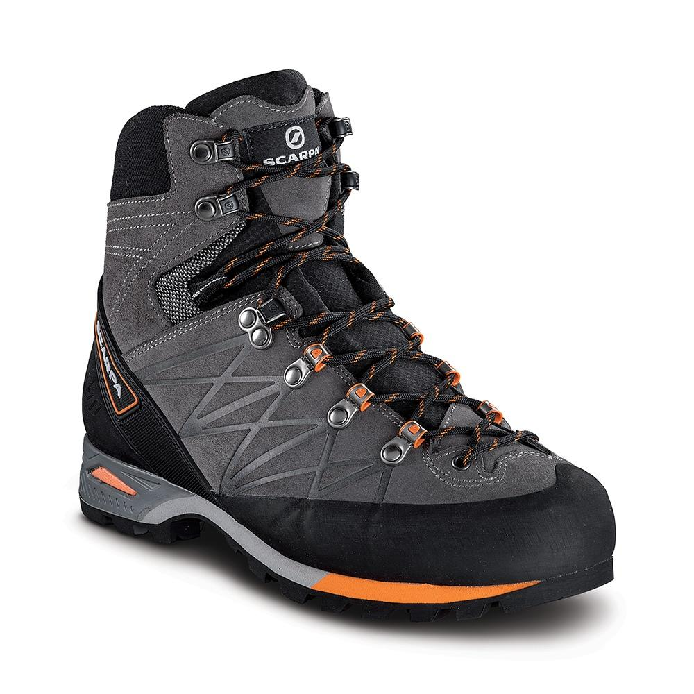 Scarpa Marmolada Pro OD mountaineering boot, in grey and black colour