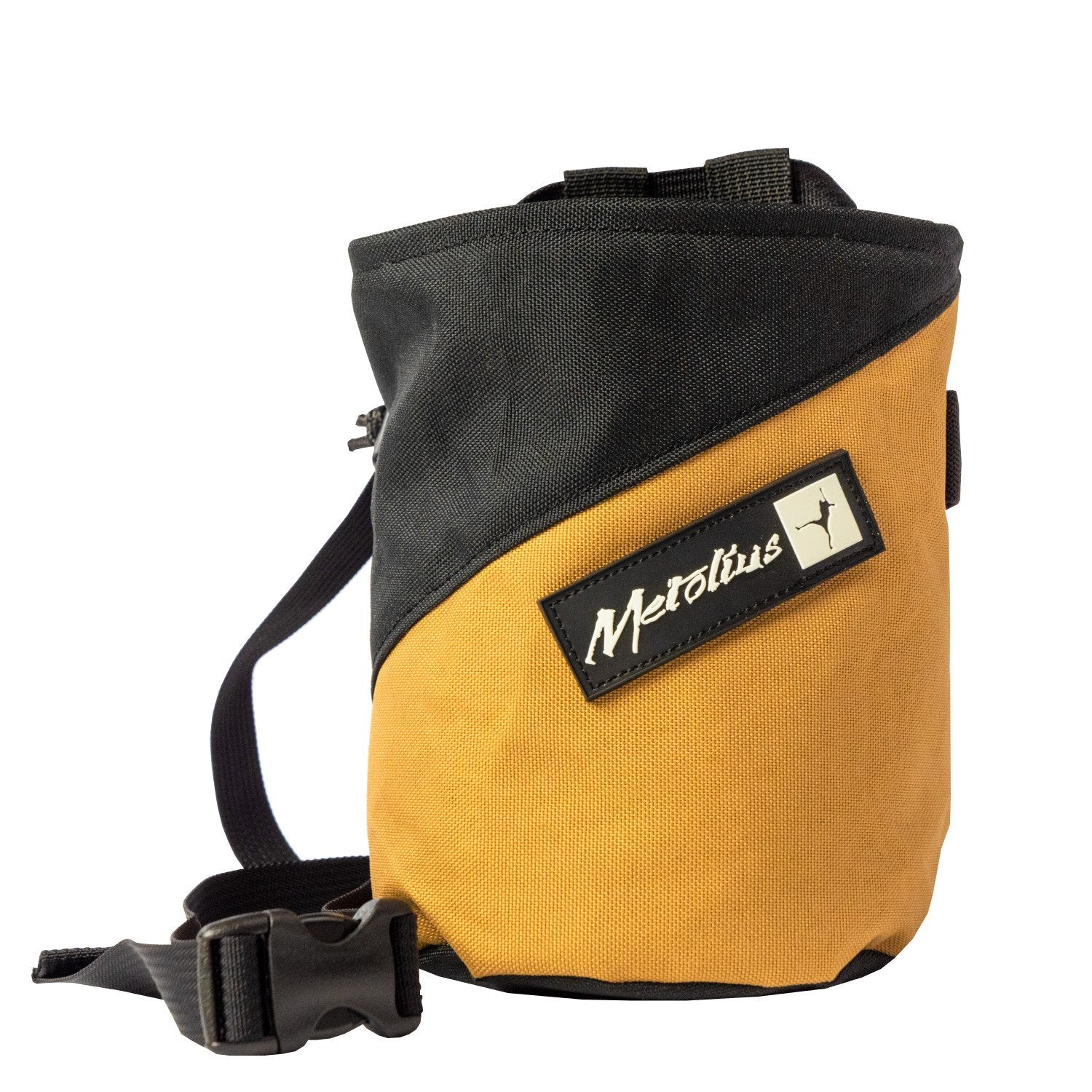 Metolius Comp Stripe Chalk bag with belt in Brown