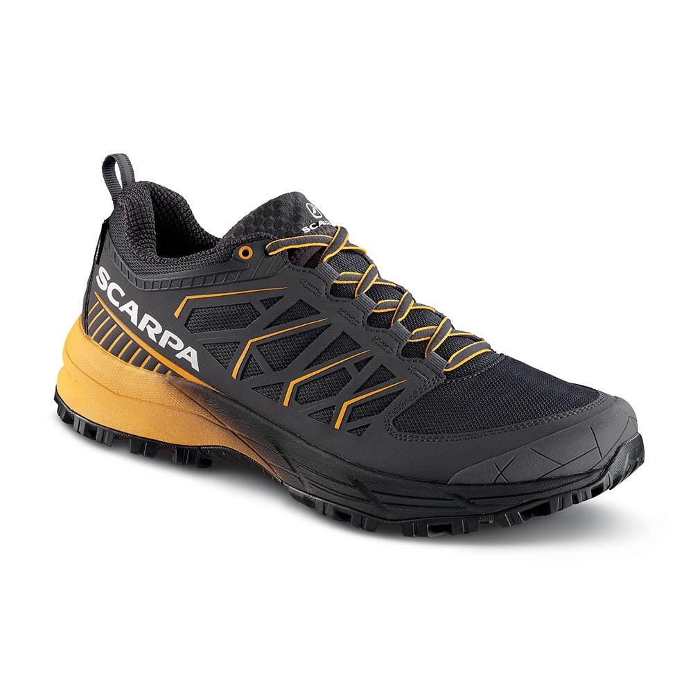 Equally adept on winter trail runs, soft underfoot crag approaches and speed walks, the Scarpa Proton XT GTX is a light, waterproof and highly cushioned shoe with bags of support.