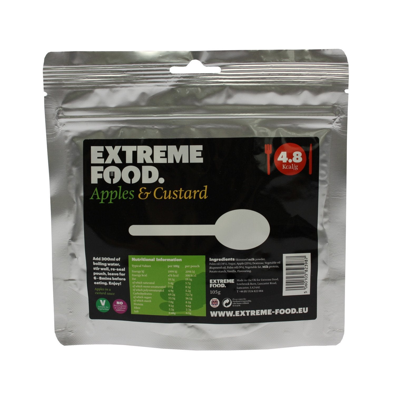 Extreme Food Apples & Custard, dried expedition food pack