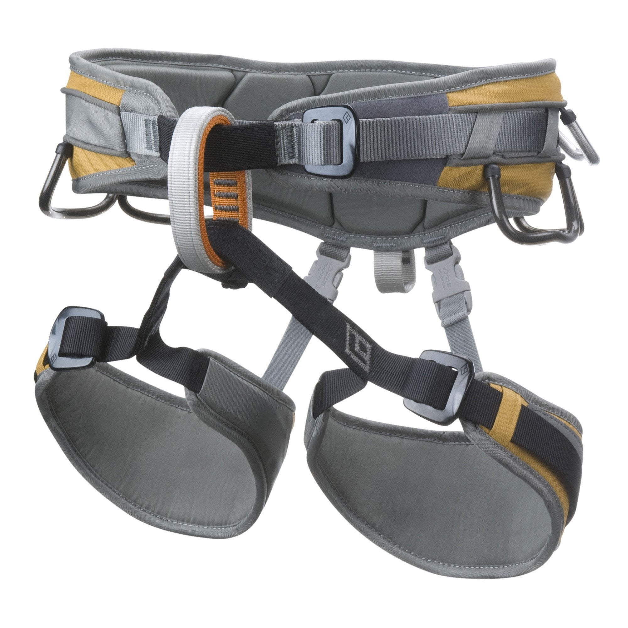 Black Diamond Big Gun Harness, in grey and gold colours