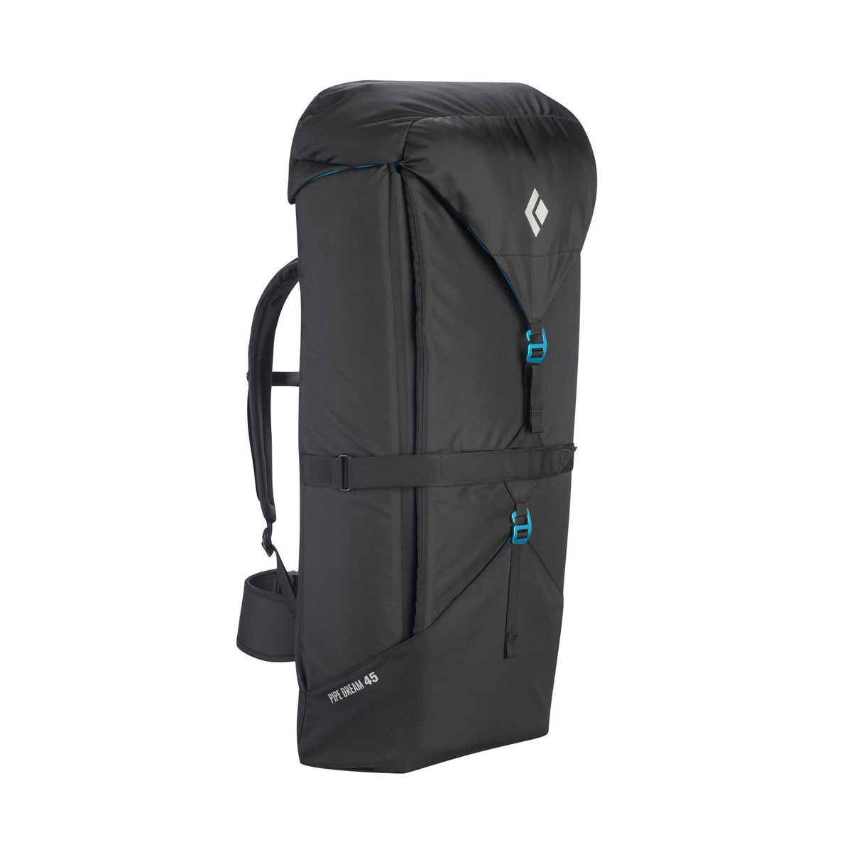 Black Diamond Pipe Dream 45 climbing pack, shown in black colour
