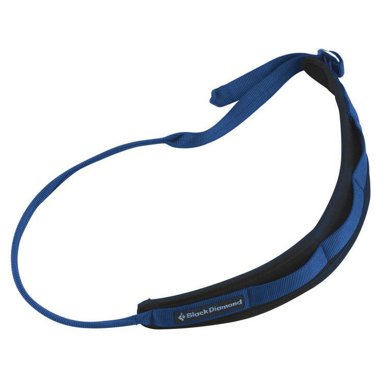 Black Diamond Padded Gear Sling for climbing, in blue colour